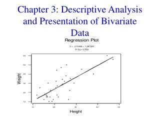 Chapter 3: Descriptive Analysis and Presentation of Bivariate Data
