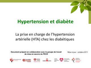 Hypertension et diabète