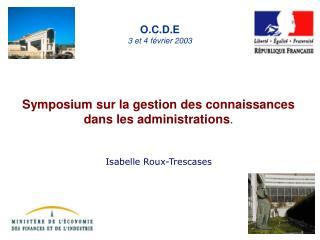 O.C.D.E 3 et 4 février 2003