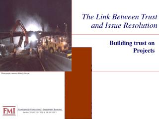 The Link Between Trust and Issue Resolution