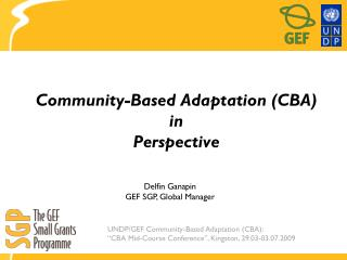 Community-Based Adaptation (CBA) in  Perspective