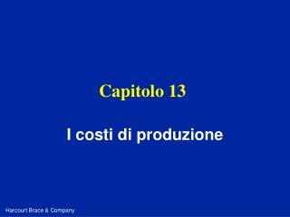 Capitolo 13