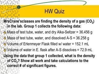 HW Quiz