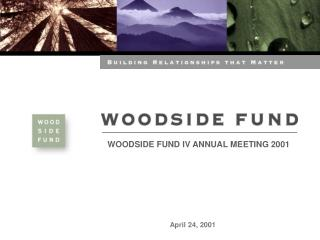 WOODSIDE FUND IV ANNUAL MEETING 2001