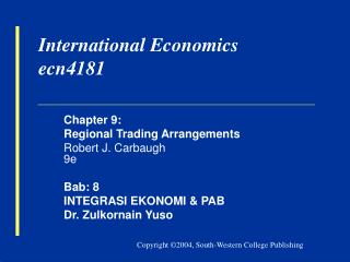 International Economics ecn4181