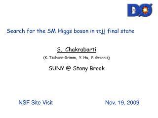 S.  Chakrabarti (K. Tschann-Grimm,  Y. Hu,  P. Grannis ) SUNY @ Stony Brook