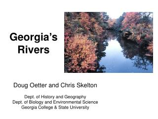 Georgia�s Rivers