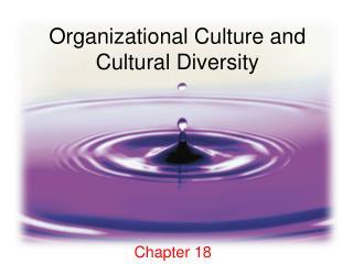 Organizational Culture and Cultural Diversity
