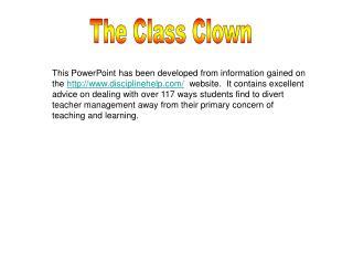 The Class Clown