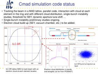 Cmad simulation code status
