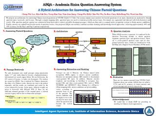 ASQA – Academia Sinica Question Answering System