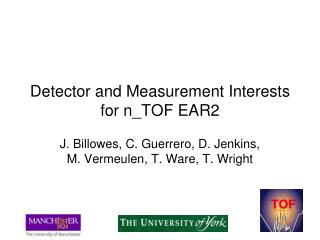 Detector and Measurement Interests for n_TOF EAR2