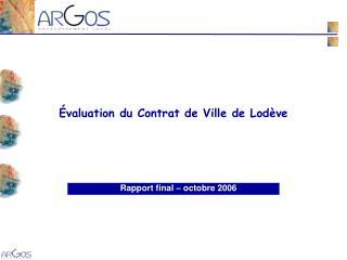 Rapport final – octobre 2006