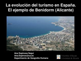 Ana Espinosa Seguí Ana.Espinos@ua.es Departmento de Geografía Humana