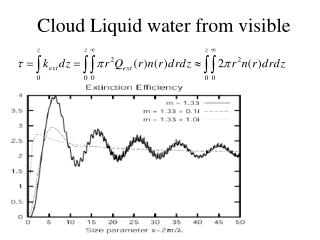 Cloud Liquid water from visible