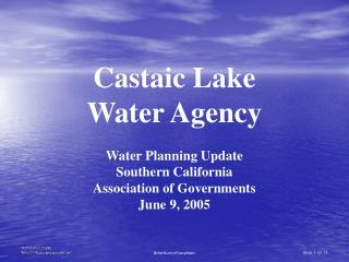 Castaic Lake  Water Agency