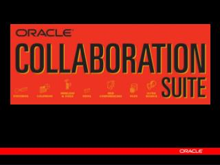 Steven Levine Vice President Oracle Collaboration Suite Oracle Corporation