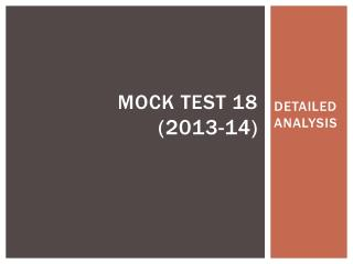 MOCK TEST 18 (2013-14)