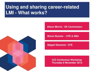 Using and sharing career-related LMI - What works?