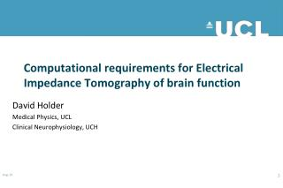 Computational requirements for Electrical Impedance Tomography of brain function