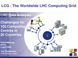 LHC Data Analysis Challenges for 100 Computing Centres in  20 Countries HEPiX Meeting Rome
