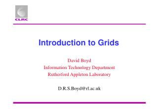 Introduction to Grids