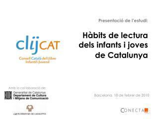 Hàbits de lectura dels infants i joves de Catalunya