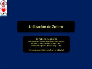 Utilizaci�n de Zotero