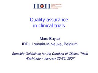 Quality assurance  in clinical trials