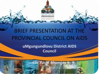 BRIEF PRESENTATION AT THE PROVINCIAL COUNCIL ON AIDS