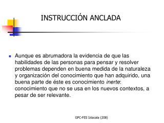 INSTRUCCIÓN ANCLADA