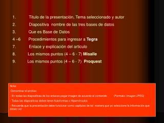 Titulo de la presentación, Tema seleccionado y autor