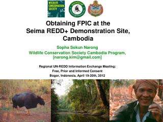 Obtaining FPIC at the  Seima  REDD+ Demonstration Site, Cambodia