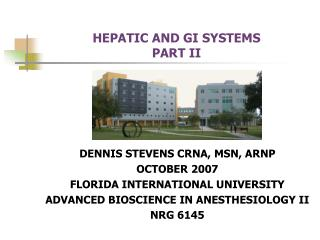 HEPATIC AND GI SYSTEMS PART II