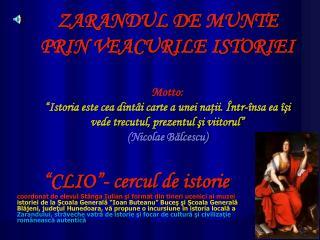""" CLIO ""- cercul de istorie"