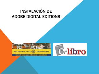 Instalaci�n de  adobe digital  editions