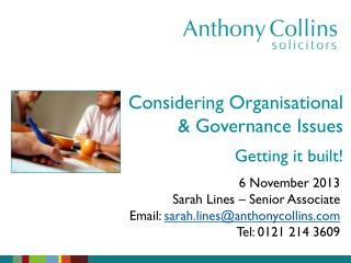 Considering Organisational & Governance Issues