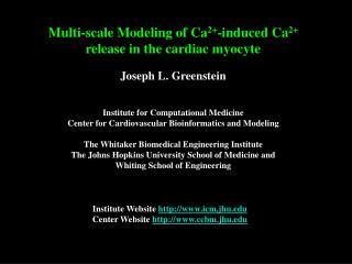 Institute Website  icm.jhu Center Website  ccbm.jhu