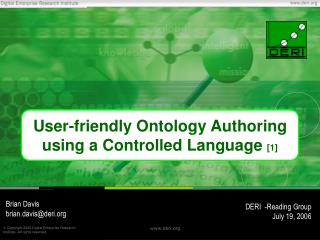 User-friendly Ontology Authoring using a Controlled Language  [1]