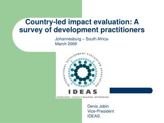 Country-led impact evaluation: A survey of development practitioners