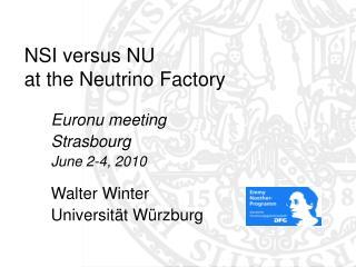 NSI versus NU  at the Neutrino Factory