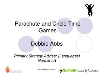 Parachute and Circle Time  Games Debbie Abbs Primary Strategy Adviser (Languages) Norfolk LA