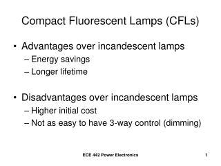 Compact Fluorescent Lamps (CFLs)