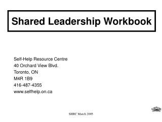 Shared Leadership Workbook