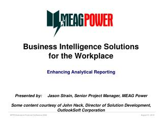 Business Intelligence Solutions for the Workplace
