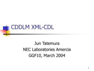 CDDLM XML-CDL