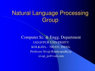 Natural Language Processing Group