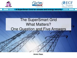 The SuperSmart Grid  What Matters? One Question and Five Answers