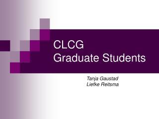 CLCG  Graduate  Students