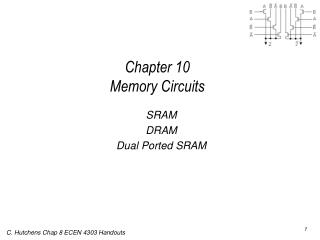 Chapter 10  Memory Circuits